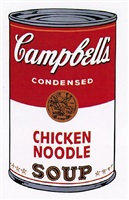 campbell's soup i: chicken noodle, [ii.45] by andy warhol